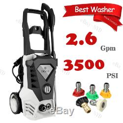 Electric Pressure Washer 3500PSI 2.6GPM High Power 1800W Cleaner Machine 5Nozzle