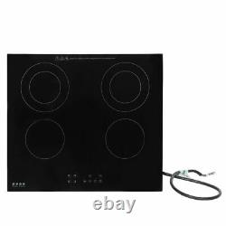 Electric Stove Induction Cooktop with 4 High Power Boost Burners in Black