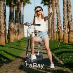 Folding Rechargeable 24V Electric Powered Scooter 120W High-Torque Motor withSeat