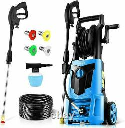 HOT Suyncll 3000PSI 2.4GPM Electric Pressure Washer High Power Washer Cleaner Pm