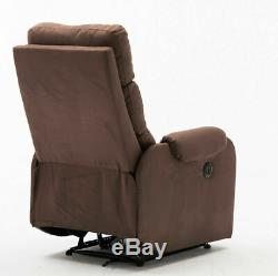 High Back Power Reclining Sofa Electric Recliner Chair Lounger withUSB Charge Port
