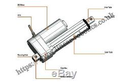 High Power 12V DC Linear Actuator, 1000N, Low Noise, Waterproof Electric Piston
