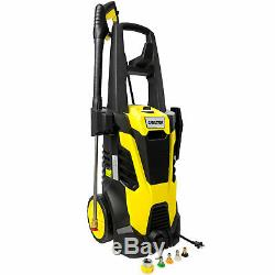 High Power Electric Pressure Washer Power Washer 3000PSI 1.7GPM Hose 5x Nozzles