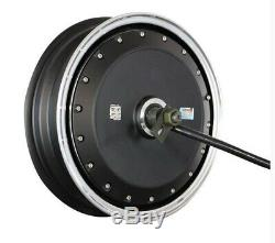 High Powered 8KW 72V Brushless Electric Motorcycle Scooter Hub Motor 55-74mph