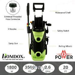 Homdox Electric Pressure Washer High Power Water Cleaner Machines 3500PSI 2.6GPM