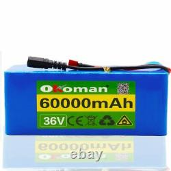 Lithium 36V 60Ah Ebike Battery 1000w For Pack High Power + Charger Lon Electric