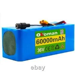 Lithium 36v 60ah Ebike Battery 500w For Pack High Power + Charger Lon Electric