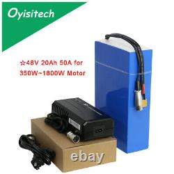 Lithium 48v 20ah Ebike Battery 1800W for Pack High Power + Charger Ion Electric