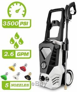 Max 3500PSI 2.6GPM Electric Pressure Washer High Power Car Cleaner Machine Home