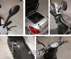 NEW E-Wheels EW-36 3-Wheel 500W High Power Electric Mobility Scooter, Silver