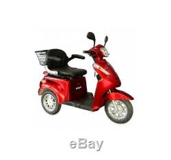 NEW E-Wheels EW-38 3-Wheel 700W High Power Electric Mobility Scooter, Red