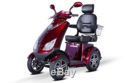 NEW E-Wheels EW-72 4-Wheel 700W High Power Electric Mobility Scooter, Red