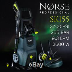 NORSE Professional High Power Electric Pressure / Jet washer 3700psi SK155