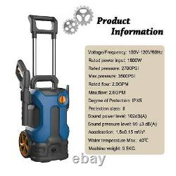 New 3500PSI 2.6GPM Electric Pressure Washer High Power Cleaner Machine Sprayer
