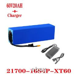 New 60V 20ah1500W high power electric bicycle scooter battery pack + 2A charger