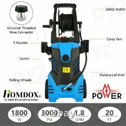 Newest 3000PSI 1.8GPM Electric Pressure Washer High Power Water Cleaner Sprayer