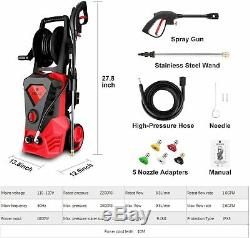 Power Washer Electric High Pressure Washer 1800W 3500 Max PSI 2.6GPM Car Cleaner