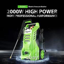 Suyncll 3800PSI Electric Pressure Washer 2.6 GPM Max High Power Cleaner Machine
