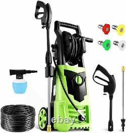 Suyncll Electric Pressure Washer 3000PSI, 2.4GPM High Power Washer Cleaner=