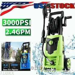 Suyncll Electric Pressure Washer 3000PSI 2.4GPM High Power Washer Cleaner Gar Q