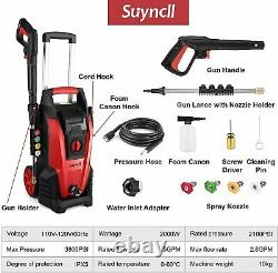 Suyncll Electric Pressure Washer 3800PSI Power Washer 2000W High Pressure Washer