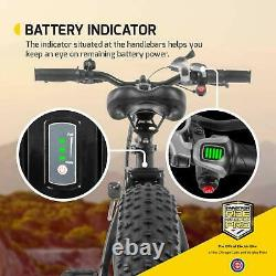 Swagtron EB6 Bandit Ebike Fat Tire Electric Bike 350W High-speed with Power Assist
