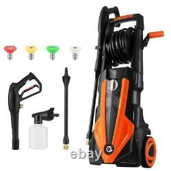 TOOLUCK 1800W 2.5GPM 3500PSI Electric High Pressure Cleaner Machine Garden Power