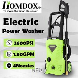 US@3500PSI 2.6GPM Electric Pressure Washer High Power Cold Water Cleaner Machine