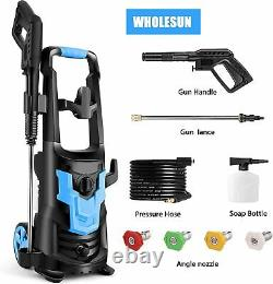 WHOLESUN 3600PSI/2.6GPM Electric Pressure Washer 1900W High Power Washer Spray#